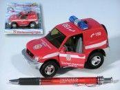 Mikro Trading Auto Mitshubishi hasiči na zpětné natažení se zvukem se světlem v krabici cena od 154 Kč