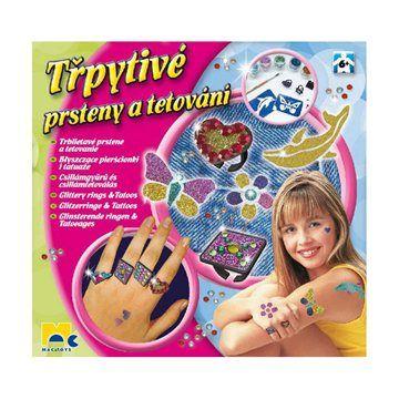 Mac Toys Třpytivé prsteny a tetování cena od 180 Kč