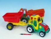 Teddies Traktor s vlekem plast 52 cm cena od 111 Kč