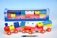 Mikro Trading Vláček + 2 vagóny dřevo 45 cm cena od 217 Kč