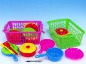 Mikro Trading Nádobí velké v plastovém košíku cena od 226 Kč