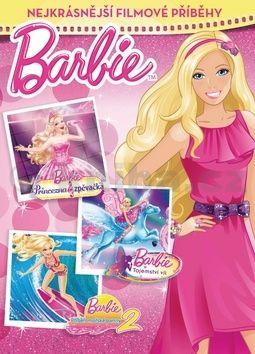 Mattel: Barbie - Nejkrásnější filmové příběhy (Princezna a zpěvačka, Tajemství víl a Příběh mořské panny 2) cena od 169 Kč