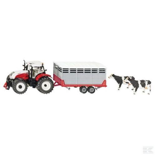 Siku Traktor Steyr s přívěsem pro dobytek  cena od 1099 Kč