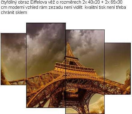 EVK Eiffelova věž obraz