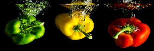 EVK papriky ve vodě obraz