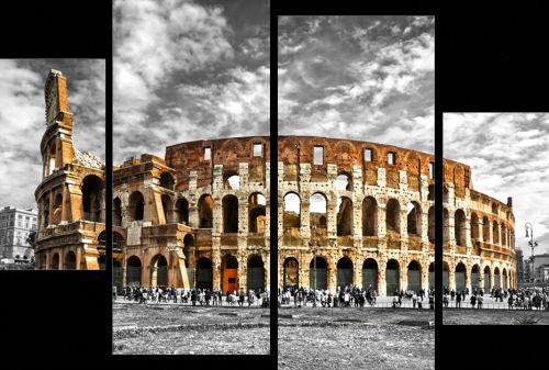 EVK koloseum čtyřdílný obraz