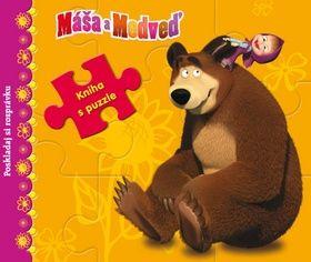 Máša a Medveď Kniha s puzzle cena od 0 Kč