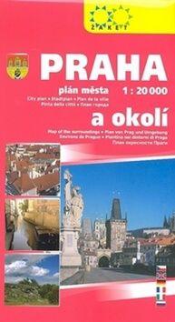 Praha a okolí 1:20T/1:150T cena od 60 Kč