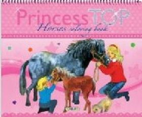 XXL obrazek Princess TOP - Horses coloring book