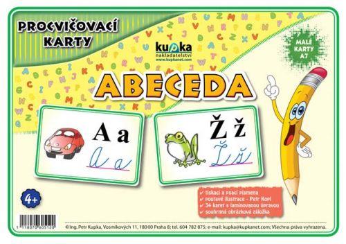Petr Kupka: Procvičovací karty - abeceda cena od 62 Kč