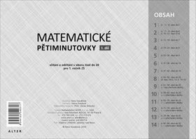 Hana Staudková: Matematické pětiminutovky - I. díl cena od 233 Kč