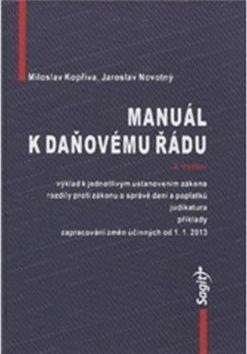 Miloslav Kopřiva: Manuál k daňovému řádu cena od 579 Kč