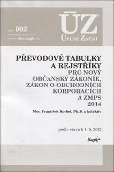 ÚZ 902 Převodové tabulky a rejstřík pro novýnobčanský zákoník ...2014 cena od 55 Kč
