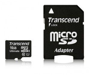 Transcend Micro SDHC Ultimate Class 10 16 GB