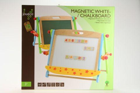Johntoy: Dřevěná magnetická/křídová tabule - Johntoy