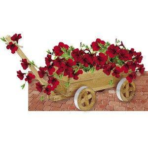 Royal Květináč dřevěný vozík