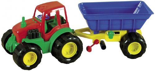 Mochtoys Traktor s vlečkou 45 cm