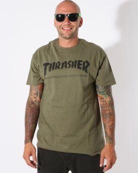 Thrasher Skate Mag army triko