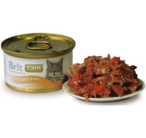 Brit Care Cat tuňák + mrkev + hrášek 80 g