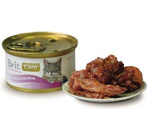Brit Care Cat tuňák+losos 80 g