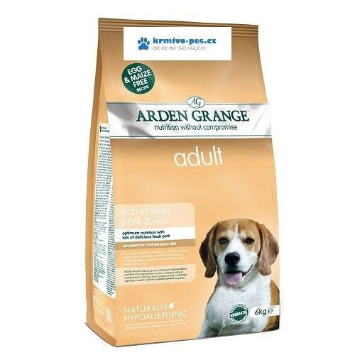 Arden Grange Dog Adult Pork Rice 2 kg cena od 315 Kč