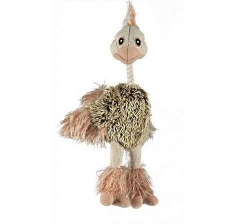 Trixie Plyšový pštros s peřím 35 cm
