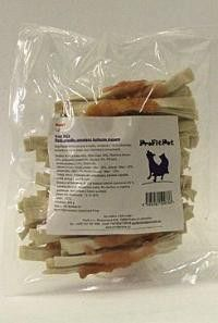 YANTAI China Pet Foods Want Dog Rybí proužky s kuřecím masem 250 g