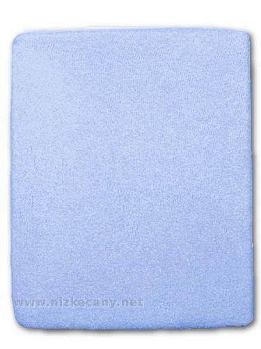Akuku modrě froté prostěradlo