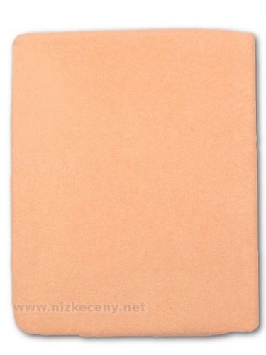 Akuku oranžové froté prostěradlo
