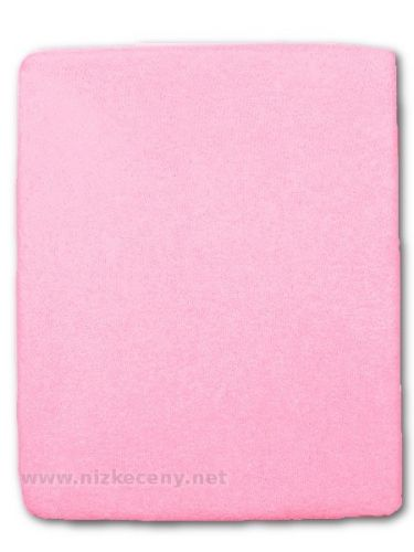 Akuku růžové froté prostěradlo