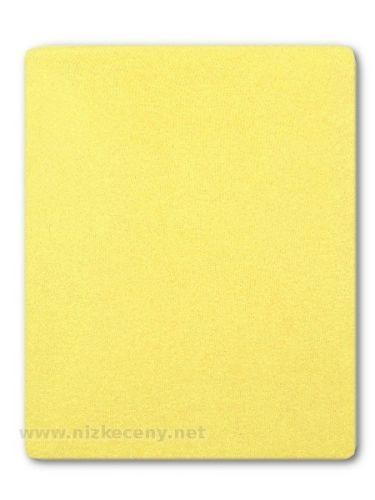 Akuku žluté froté prostěradlo