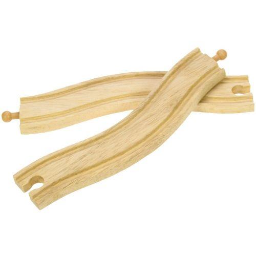 Bigjigs Rail Obloukové dřevěné koleje 22 cm