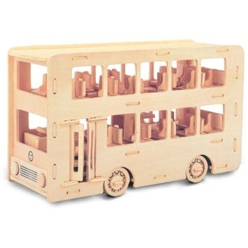 Woodcraft Autobus Double Decker P093