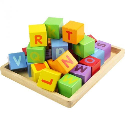 Bigjigs Toys Dřevěné kostky s abecedou cena od 439 Kč