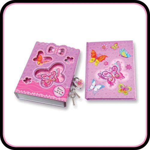 Deník v uzamykacím boxu - Motýlek cena od 0 Kč