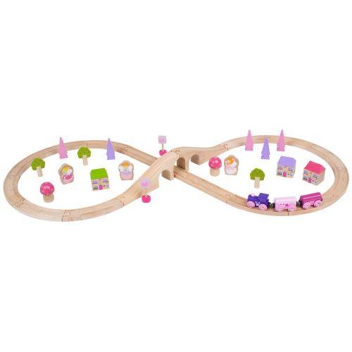 Bigjigs Rail Osmička pro princezny 40 dílů