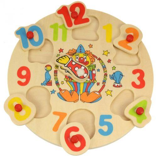 Bigjigs Toys Dřevěné hodiny s klaunem cena od 102 Kč