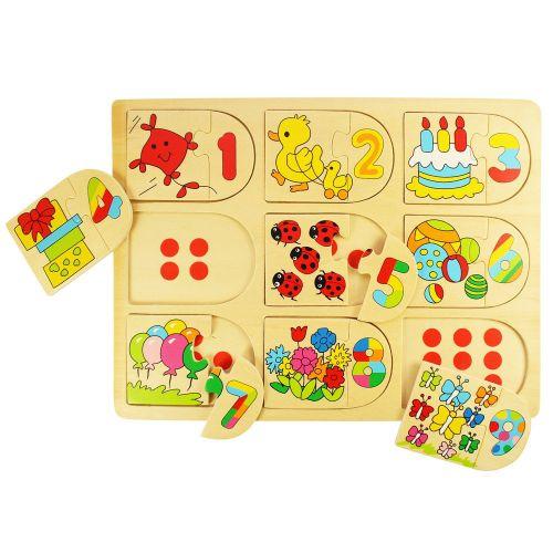 Bigjigs Toys Počítací puzzle cena od 149 Kč