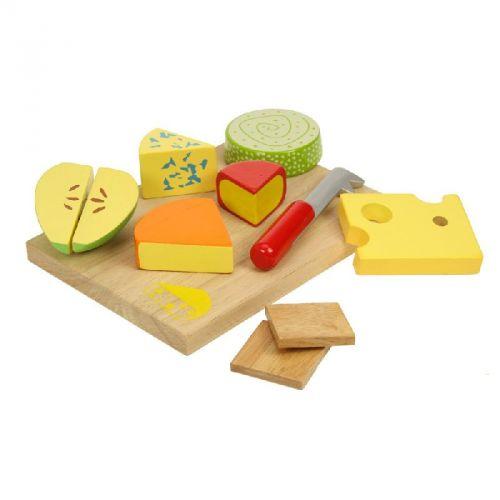 Bigjigs Toys Dřevěné potraviny sýry na desce cena od 319 Kč