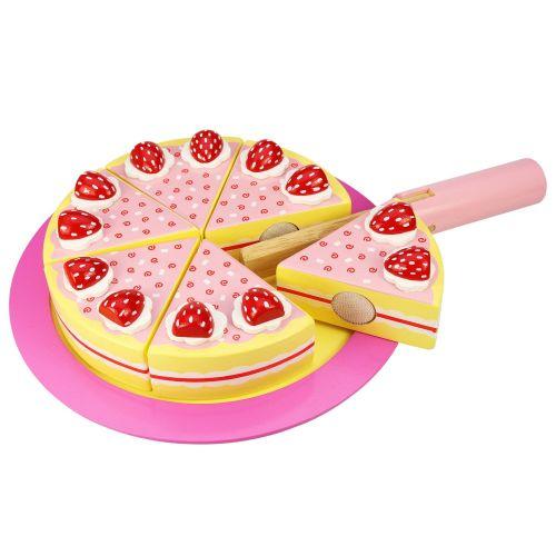 Bigjigs Toys Dřevěný krájecí dort s jahodama cena od 403 Kč