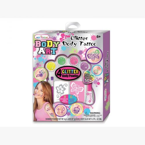 XXL obrazek Playco Třpytivý body art set