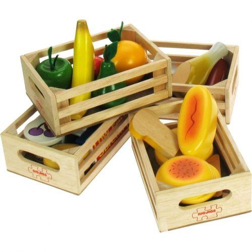 Bigjigs Toys Set zdravých potravin ve čtyřech krabičkách 2 cena od 629 Kč