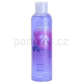 Avon Naturals Vibrant Orchid and Blueberry sprchový gel s orchidejí a borůvkou (Orchid and Blueberry) 200 ml