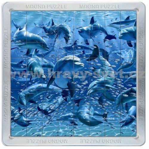 Piatnik: 64 d. 3D Magnetické puzzle Delfíni cena od 319 Kč