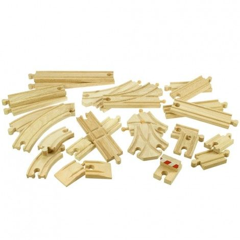 Bigjigs dřevěná vláčkodráha 25 dílů cena od 0 Kč