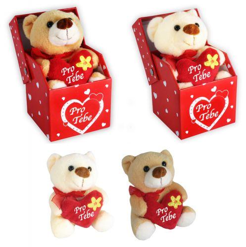 Rappa plyšový medvěd se srdcem v krabičce 10 cm cena od 79 Kč