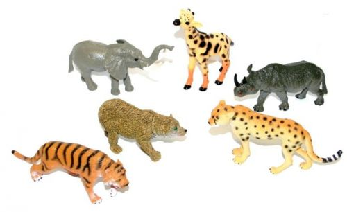 Rappa zvířata divoká 5 ks cena od 70 Kč