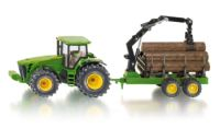 SIKU Farmer Traktor John Deere s lesním přívěsem 1:50 cena od 479 Kč