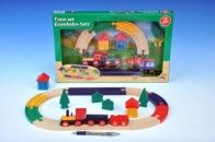 Teddies Vlak s kolejemi dřevo 19 ks cena od 297 Kč