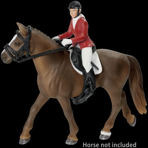 Schleich Postroj na koně s jezdcem v červeném kabátku